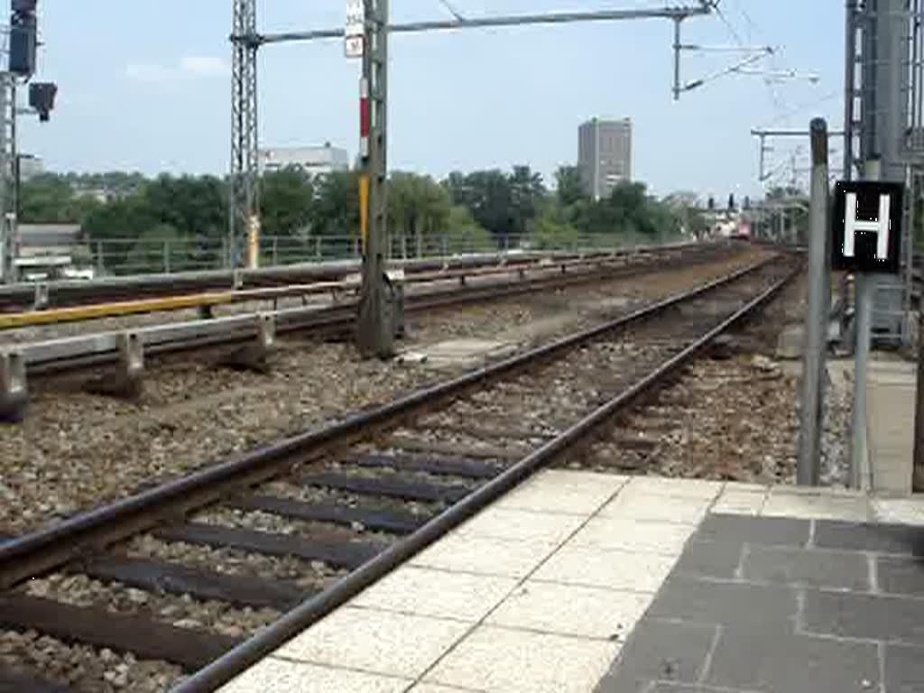 EuroCity 174 bei der Ausfahrt Bratislava hlavná stanica am ...