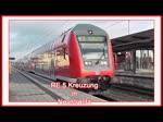 RE 5 mit Loks der BR 112 auf der Fahrt von und nach Rostock bzw. von und nach Lutherstadt Wittenberg kreuzen auf dem Bf Neustrelitz. Anschließend durchfährt ein DB Schenker Güterzug den Bahnhof, im Einsatz war eine Lok der 185er BR. -  ...