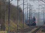 CFL 2306 aus Richtung Wasserbillig durchfährt die Haltestelle Betzdorf auf ihrer Fahrt nach Luxemburg.  18.03.2015