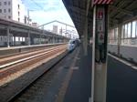 Shinkansen Series 500 als KODAMA 741 SHIN-OSAKA - HAKATA fährt aus Nishi-Akashi aus. (September 2015)