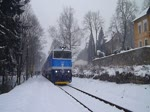 754 008-1 verlässt am 23.01.16 Prosečnice mit dem OS 9055 von Praha-Vršovice nach Čerčany. 