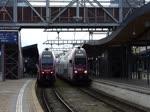 . Abfahrt des Triebzuges 2307 der CFL im Bahnhof von Luxemburg in Richtung Koblenz.  28.01.2016