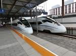 Abfahrt von CRH380D-1512 aus Suzhou Hauptbahnhof in Richtung Shanghai, 20.06.15
