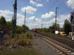 185 180-7 durchfährt mit einem KLV Recklinghausen-Ost 4.5.2016