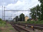 Da bei Tršnice die Brücke über die Ohre ausgetauscht wird fehlt dort die Oberleitung. Die Züge werden von Kynšperk n.Ohří bis Cheb und zurück mit 714 oder 742 geschoben. Hier der R 612 Svatava vorn mit 362 108- ...