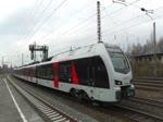 Durch Abellio eingesetzte Stadler Flirt auf der RB 40 und dem RE 16 bei der Fahrt durch Bochum am 19. Februar 2017.