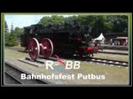Lok 99 4652 beim Putbuser Bahnhofsfest mit Führerstandsmitfahrten in Aktion. Als Titelbild habe ich die Lok 86 1333 gewählt, die auf ihren Einsatz am Sonderzug zwischen Bergen auf Rügen und Lauterbach Mole wartet. - 11.06.2017
