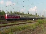 Zug der Centralbahn mit Re 4/4 I 10019 aam 24. September 2017 bei der Fahrt durch Bochum.