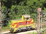 ThyssenKrupp Steel 861 (vormals EH) rangiert am 7. Juli 2013 in Mülheim an der Ruhr.