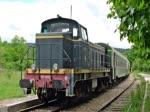 BB 64042 der Association du Train Touristique du Centre Var (ATTCV) auf der Strecke von Brignoles nach Carnoules am 15. Mai 2018.