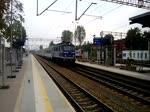 Abfahrt der EU07-092 mit TLK 'Światowid' aus Bahnhof Zielona Gora, 7.09.2018