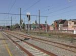 Lineas 1345 zieht einen Brammenzug durch den Bhf Tongeren Richtung Lüttich. Aufgenommen am 18/09/2018.