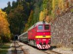 ŽSR T679 1168 (historische Beschriftung) am 9. Oktober 2018 in Dolný Harmanec bei einer Fahrt für die DGEG von Vrútky nach Banská Bystrica.