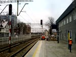 BR189 009-4 fahrt durch Bahnhof Zielona Gora, 16.12.2018